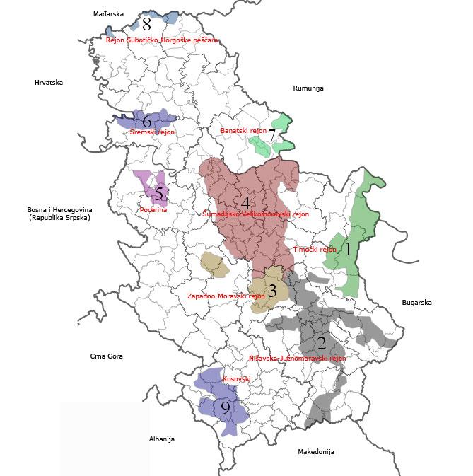 Vinski regioni u Srbiji