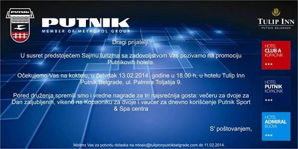 Turistički klub Srbije na promociji Putnikovih hotela 13. februara 2014