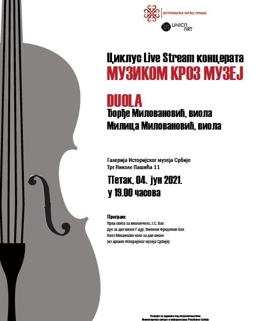 "Ciklus besplatnih online koncerata ""Muzikom kroz muzej"
